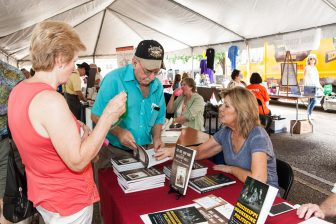 Visitors of the 2015 Book Festival visited with participating authors in Authors Alley.