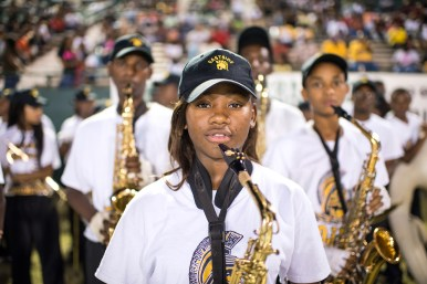 Keyonna Jenkins plays in the East Side High School band.