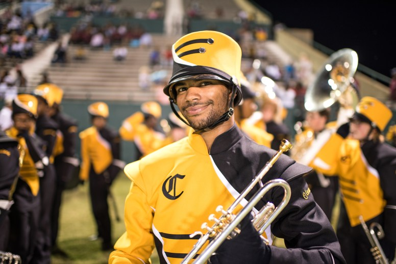 Gabe Parfait of the Cleveland High School band.