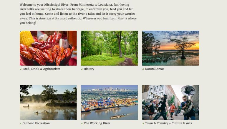 According to National Geographic, the Mississippi River Geotourism MapGuide is designed to market the diverse natural, cultural and historic attractions that define the many communities along the Mississippi River.