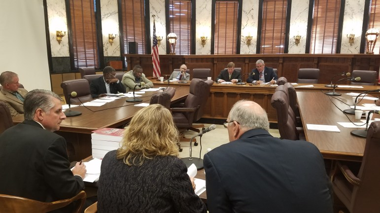 Lawmakers hear from state agency heads, including Department of Transportation Executive Director Melinda Myers, during budget meetings at the Capitol on Tuesday.