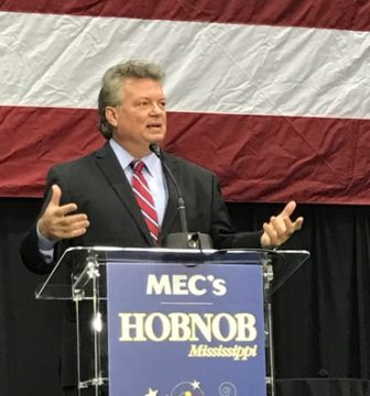 Attorney General Jim Hood speaks at Hobnob 2016.