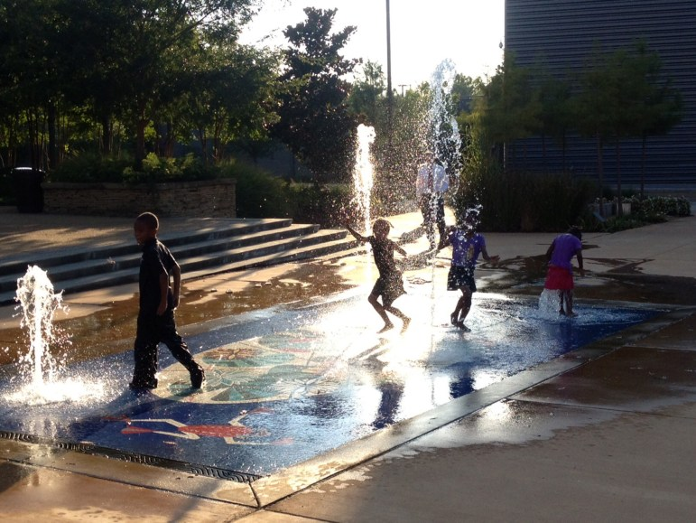 Martha Ferris' McRae Children's Fountains, titled Mississippi Pond, reference the aquafauna of the state's rural regions at the Mississippi Museum of Art.