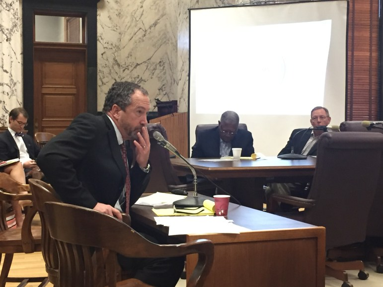 Revenue Commissioner Herb Frierson takes questions from lawmakers about the state's tax code.