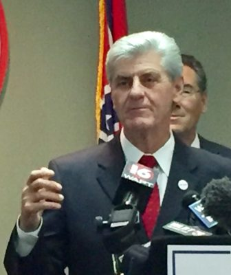 Gov. Phil Bryant addresses media Wednesday following Donald Trump's presidential election.