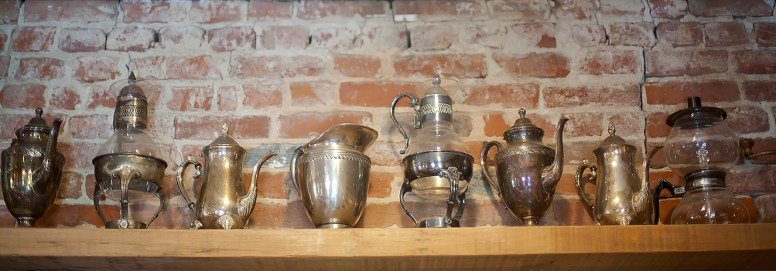 Historical touches add to the authenticity of Steampunk Coffee Roasters.