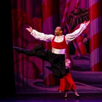 "Dexter Bishop in a Mississippi Metropolitan Ballet performance of ""The Nutcracker."""