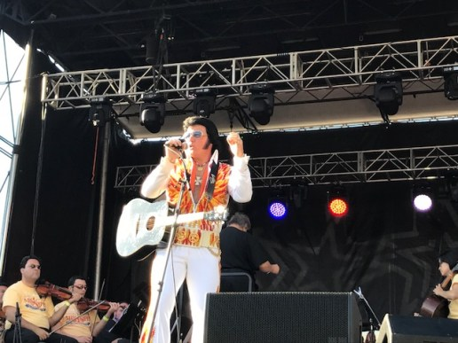 David Lee as Elvis at Governor's Concert