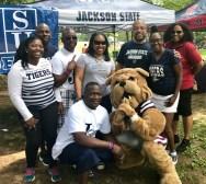 Jackson State alumni with Mississippi State's mascot at Atlanta's Mississippi Picnic.