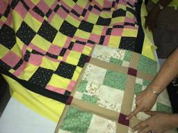 SEW recently completed a mystery quilt project in which members made sections of a quilt without knowing how the full quilt would turn out.