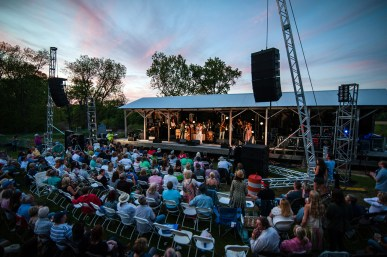 A sold-out crowd enjoys the Tedeschi Trucks concert at dusk at Dockery Farms.