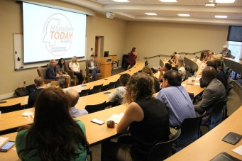 Panelists discussed issues around keeping millennials at Millsaps' Murrah Hall.
