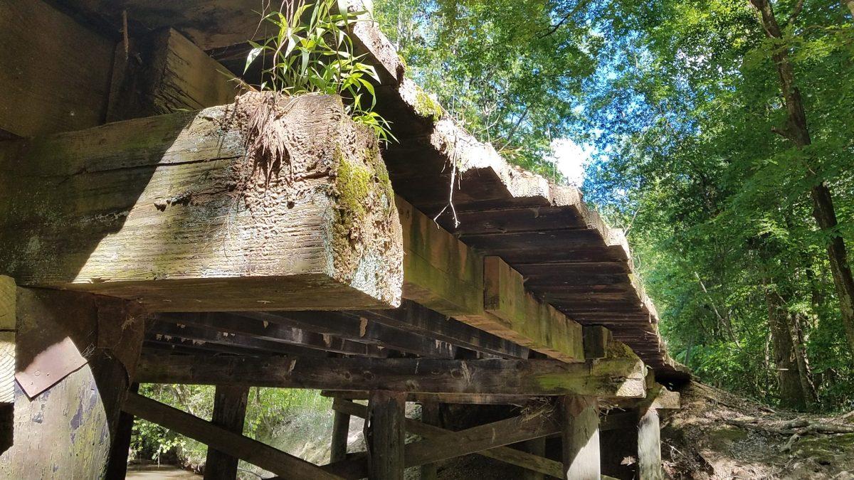 Wooden bridge in Amite County