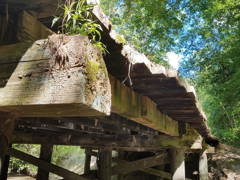 Wooden bridge in Amite County