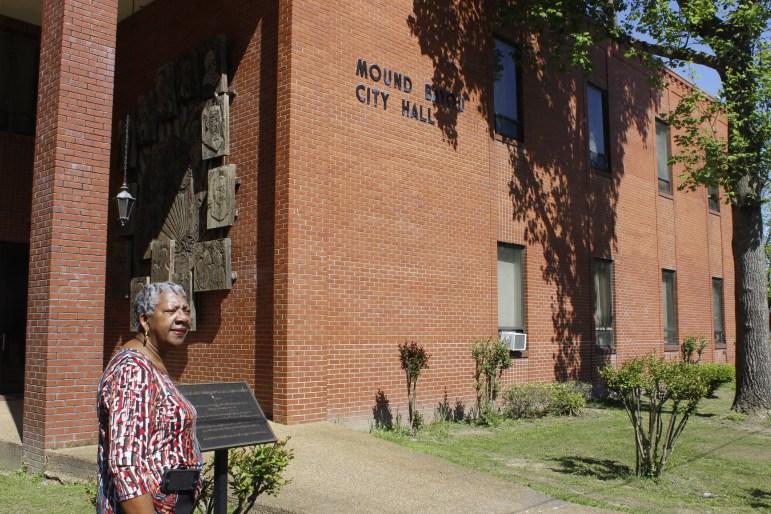 Mound Bayou Mayor Eulah Peterson outside of city hall