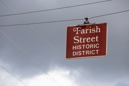 A Farish Street Historic District sign is seen on North Mill Street in Jackson Friday, June 29, 2018.