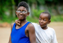 Neighborhood kids Shannon Sturgis, 11, and Jamichael Burgess, 8, on Leonard Street in Jackson's Farish Street Historic District Thursday, July 5, 2018.