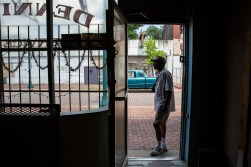 "Tony ""Dr. Shoemaker"" Brothers looks at Farish Street while at his family's business, Dennis Brothers Shoe Repair Service in the 300 block of Farish Street in Jackson Wednesday, June 27, 2018."