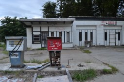 Abandoned gas station in Clarksdale