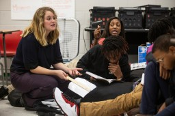 Kaitlyn Barton talks with her students near the end of the school day in her English class at Clarksdale High School Wednesday, October 31, 2018.