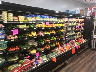 The produce section inside Piggly Wiggly.