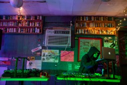 Dj Krush Vibez sets up for the women's showcase at CS's during Jackson Indie Music Week Tuesday, January 15, 2019.