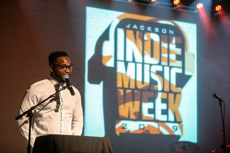 Merc B. Williams hosts the ICON Awards ceremony and the R&B showcase at Duling Hall during the Jackson Indie Music Week Thursday, January 17, 2019.
