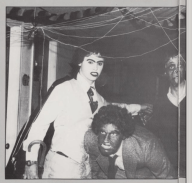 """The 1981 Mississippi College yearbook shows a """"tribe"""" member, described on the next page as attending a Derby Days party, with darkened face. No caption or further explanation was published."""