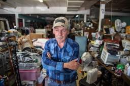 Travis Jones at his thrift store Thursday, April 11, 2019 in Belzoni, Miss.