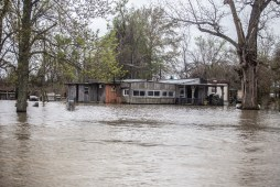 One of several homes surrounded by flood water is seen in Issaquena County Friday, April 5, 2019.