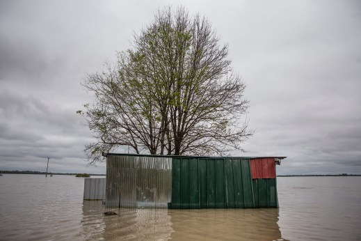 Flood waters surround a property in Issaquena County Friday, April 5, 2019.