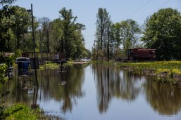 Anderson Jones Sr. has to travel by boat and ATV due to the flooding surrounding his home in Fitler, Miss., Monday, April 15, 2019.