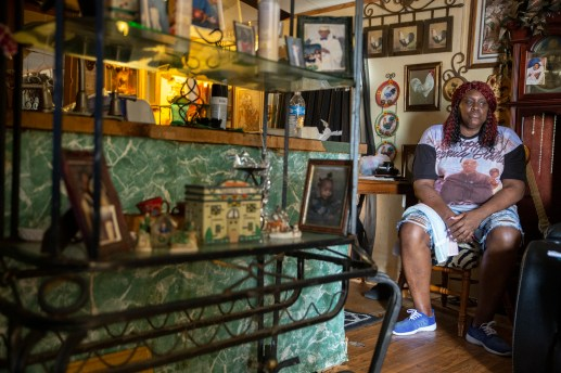 Dorothy Robertson photographed inside of her home in Tchula, Miss. Thursday, May 9, 2019.