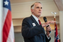 Attorney general candidate Andy Taggart speaks during the Madison and Hinds County Republican Women candidate forum at The Lake House in Ridgeland, Miss., Monday, August 26, 2019.e in Ridgeland, Miss., Monday, August 26, 2019.