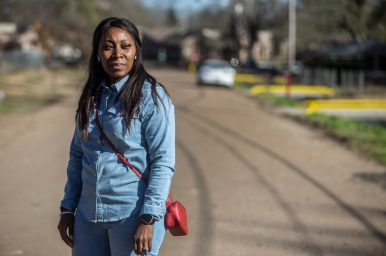 Coretta Frazier on Ashcot Circle in Edwards, Miss., Thursday, December 19, 2019. Frazier has been volunteering and delivering donated items to those affected by Monday's tornado.