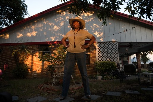 Earlean Lawrence poses for a portrait outside her home in Cleveland, Mississippi on Oct. 10, 2019.