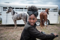 Bree Gary waits for her friends to catch up during a trail ride in Tallahatchie County — 2018.