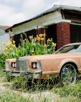 A car sat in a driveway in Clarksdale, Ms.