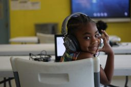 LaMiracle conducts her schoolwork virtually from a classroom at the Boys and Girls Club Capitol Street unit in west Jackson on Sept. 21, 2020.