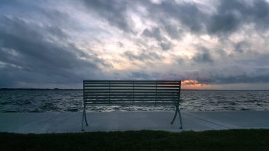 Point Cadet in Biloxi offers a front row seat to the deteriorating situation along the Mississippi Gulf Coast. A potential colorful sunrise was covered by clouds from Tropical Storm — soon to be — Hurricane Sally.