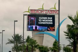 The Island View Beach Casino was closed due to Hurricane Sally approaching the Alabama and Mississippi Gulf Coasts.