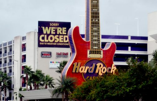 The Hard Rock Casino in Biloxi, along with all Coast casinos, was closed Tuesday due to Hurricane Sally.