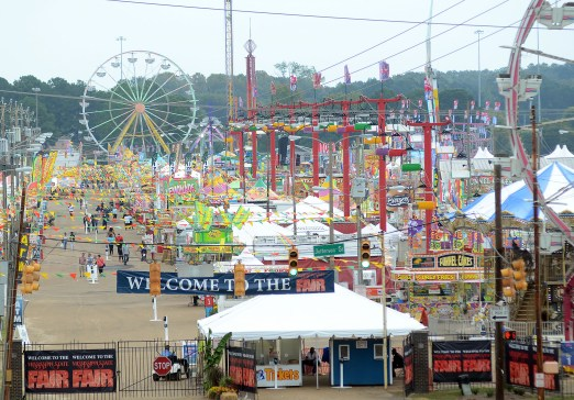 Day two of the 161st Mississippi State Fair viewed from Lamar Street on Thursday afternoon. The fair opened Wednesday, October 7th.