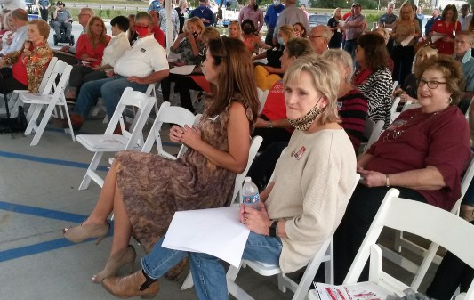 Republican Sen. Cindy Hyde-Smith among supporters during a speaking event hosted by the Madison County Republican Women, the Rankin County Republican Women and the Hinds County Republican Women, Wednesday evening at The Range in Gluckstadt.