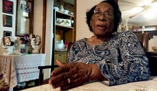 """""""I hope I'm an inspiration for these young people. Get out and vote. Don't waste the opportunity and don't take it for granted,"""" said Elease Morgan, 96 of Jackson."""
