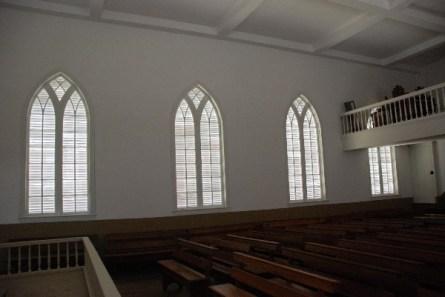 St. Augustine Church interior, Gothic windows