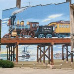 Rock Island railroad mural