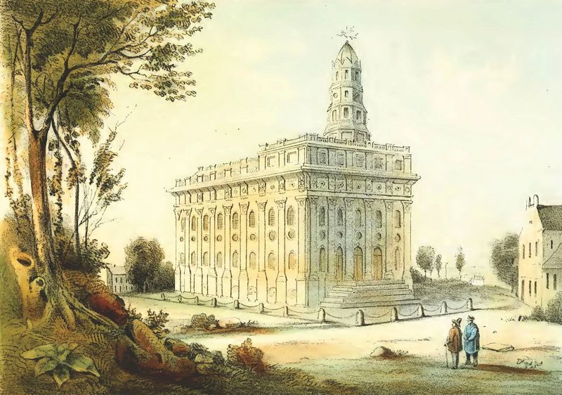 Nauvoo Temple, from Lewis' Das Illustrirte Mississippithal
