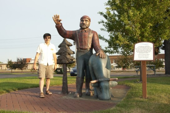 Paul and Babe in downtown Brainerd