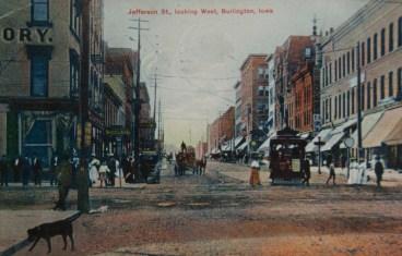 Downtown Burlington, late 1800s (courtesy of Des Moines County Hx Soc)